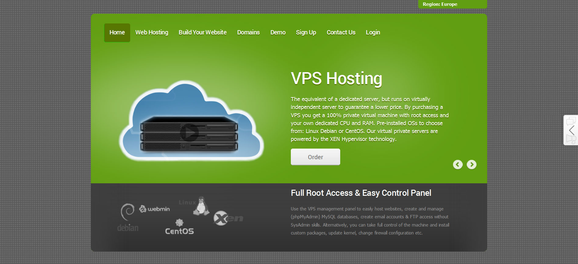 coral green reseller hosting store theme
