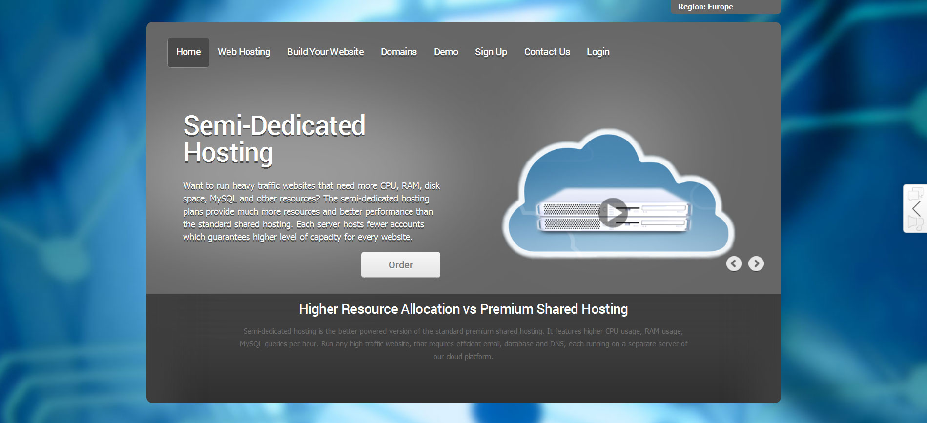grey reseller hosting theme