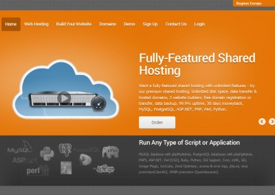 Coral Orange Hosting Theme