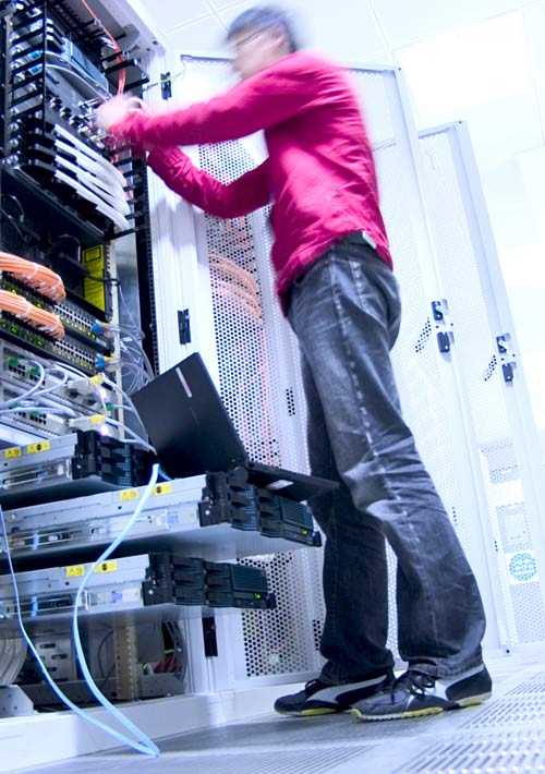 image of datacenter hardware configuration